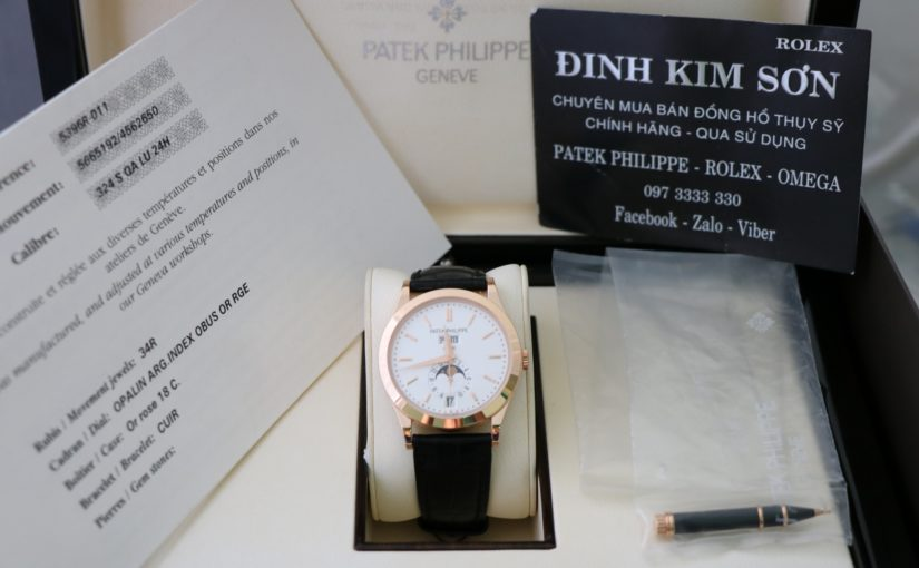 Bán đồng hồ Patek Philippe 5396r – Vàng hồng 18k – Trăng sao – Size 38,5mm