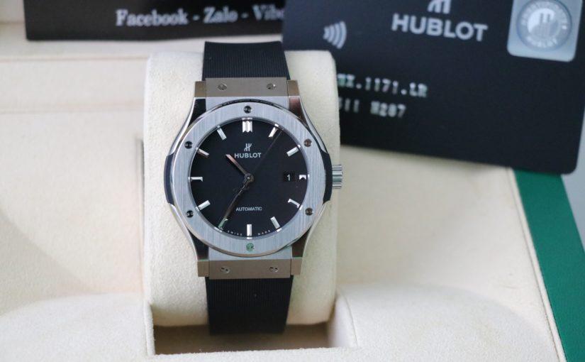 Đồng hồ Hublot Fusion – Size Nam 42mm – Inox – Mặt Đen