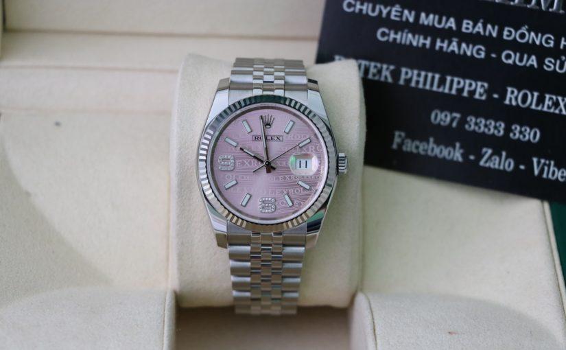 Thu mua Đồng hồ rolex datejust 6 số 116234 – Inox – Mặt hạt xoàn – size 36mm