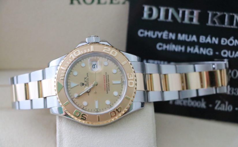 Đồng hồ rolex yatch master 166233 – Đè mi vàng 18k – size 40mm