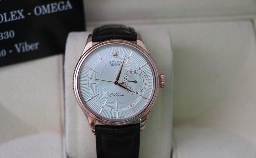 Đồng hồ rolex cellini 50515 – Vàng hồng 18k – size 39 – dây da