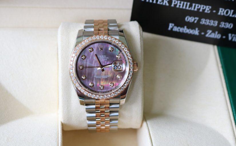 Đồng hồ rolex date just 6 số 116231 – Mặt đá xà cừ – size 36mm
