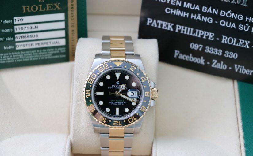 Đồng hồ rolex gmt 6 số 116713 – đè mi vàng 18k – size 40mm