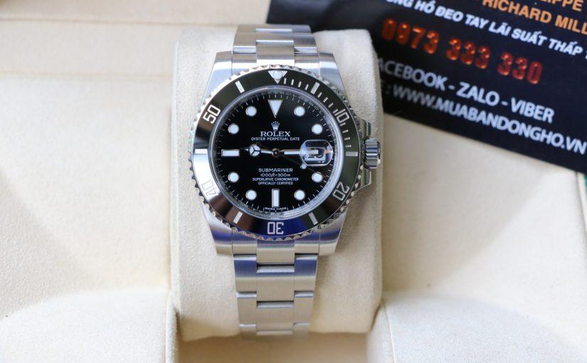 Đồng hồ rolex submariner 6 số 116610 – Inox – Vành ceramic đen – size 40mm