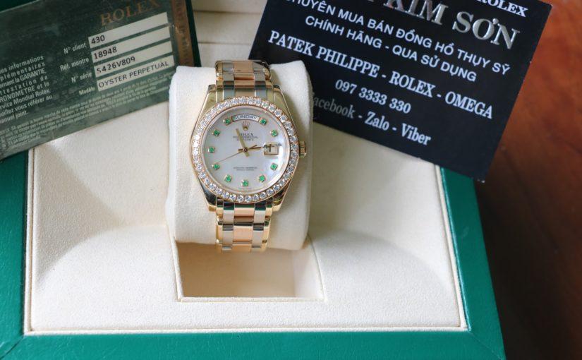 Đồng hồ rolex day date 18948 – phước lộc thọ – size 39mm