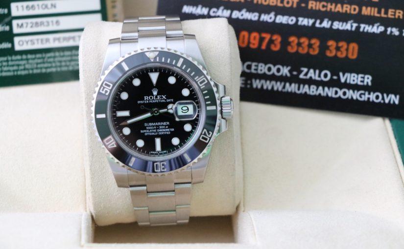 Đồng hồ rolex submariner 6 số 116610 – Vành đá đen ceramic – size 40mm