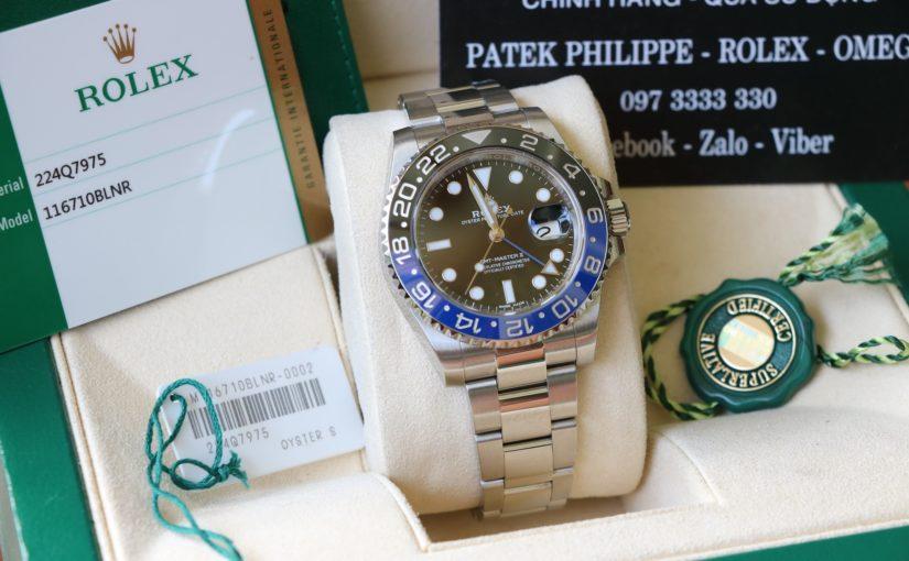 Đồng hồ rolex gmt batman 6 số 116710bl – inox – size 40mm