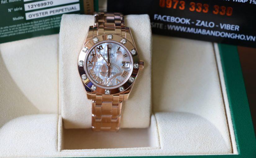 Đồng hồ rolex date just nữ 81315 – Vàng hồng 18k – size 34mm