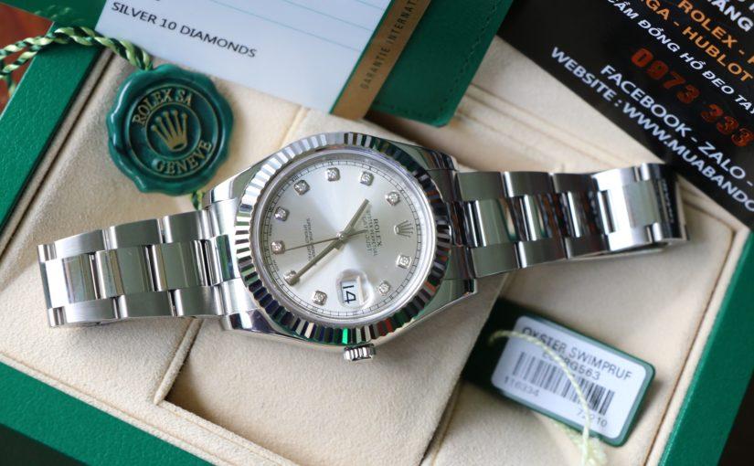Đồng hồ rolex date just 116334 – Inox – Mặt hạt – size 41mm