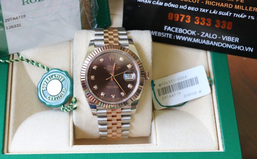 Đồng hồ rolex date just chính hãng – model 126331 – đè mi vàng hồng 18k – size 41mm