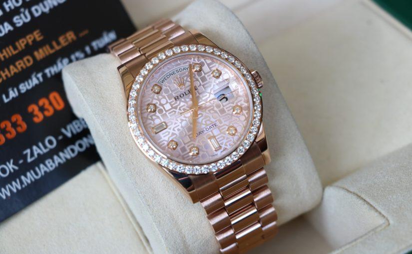 Đồng hồ rolex day date 6 số 118235 – Mặt Vi tính xoàn – size 36mm