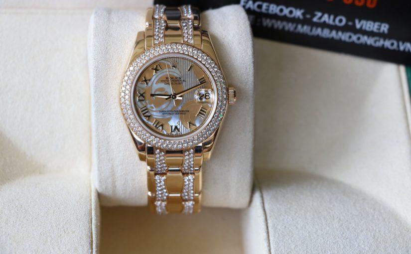 Đồng hồ rolex date just Nữ 81338 – Vàng 18k yellow – Dây xoàn – size 34.mm