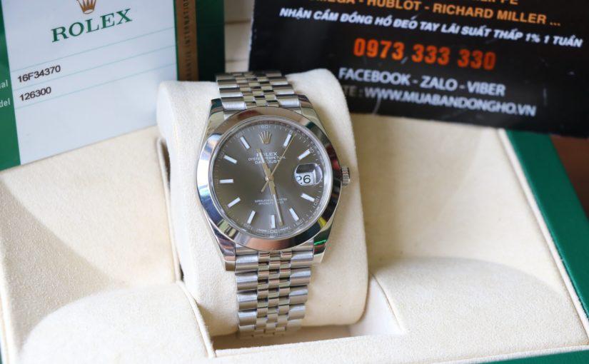 Đồng hồ rolex date just 6 số 126300 – size 41mm Nam – Inox