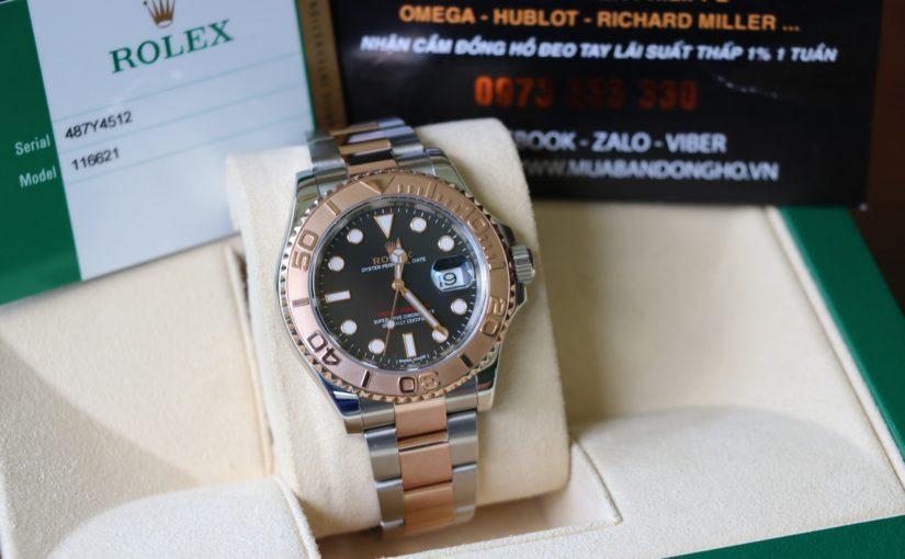 Đồng hồ rolex yatch master 6 số 116621 – Đè mi vàng hồng 18k – size 40mm