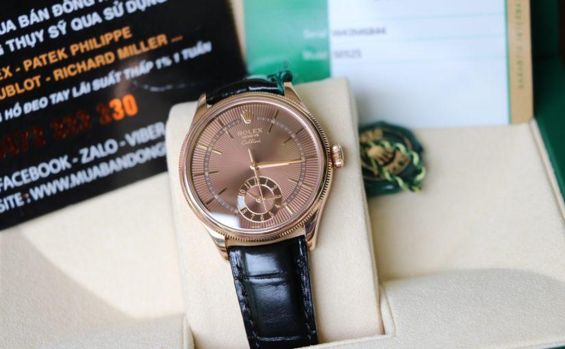 Đồng hồ rolex cellini 50525 – Vàng hồng 18k – mặt số nâu chocolate – size 39mm