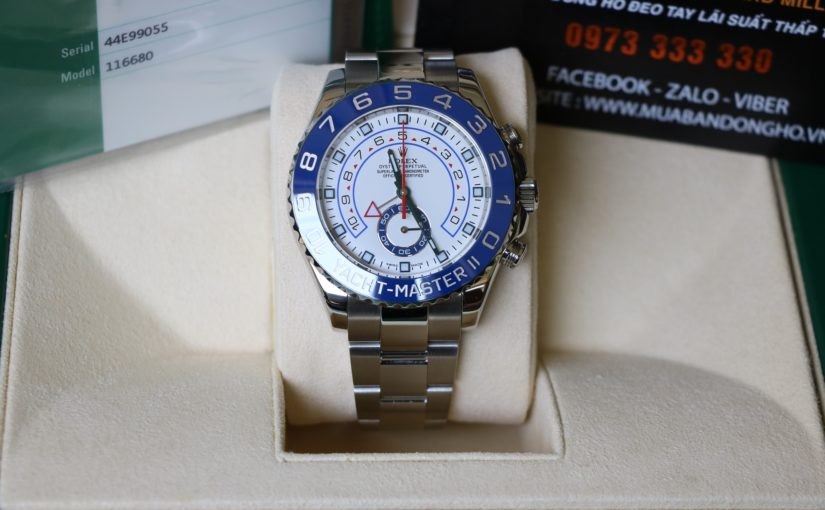Đồng hồ rolex Yatch master 6 số 116680 – Inox Trắng – Size 44mm
