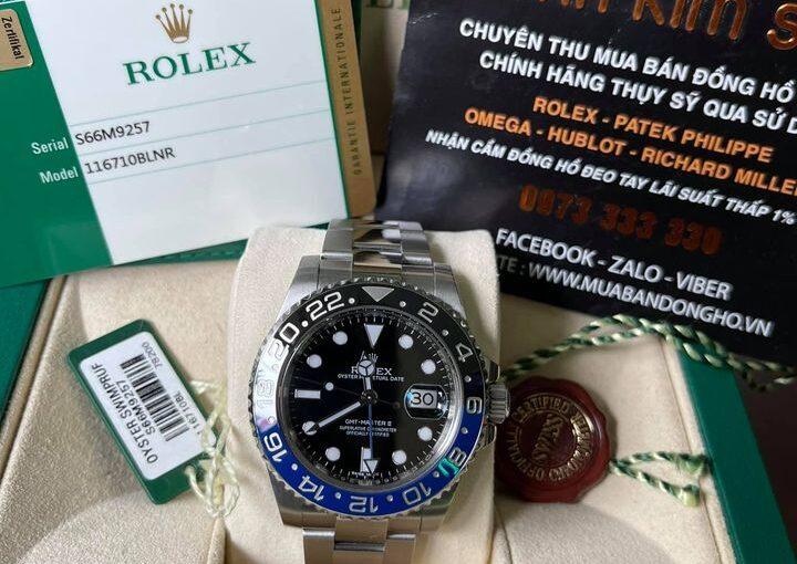 Đồng hồ rolex gmt 6 số 116710bl – Bat man – size 40mm