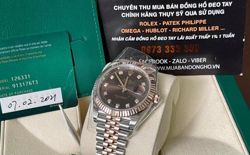 Đồng hồ rolex date just 6 số 126331 – size 41mm – cũ chính hãng