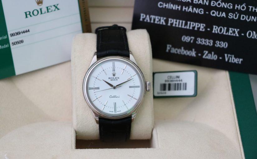 Đồng hồ rolex cellini – model 50509 – Vàng trắng 18k – size 39mm