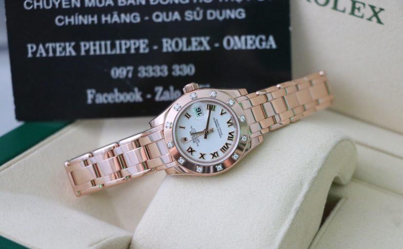 Đồng hồ rolex date just Nữ 80315 – Vàng hồng 18k – size 29.mm
