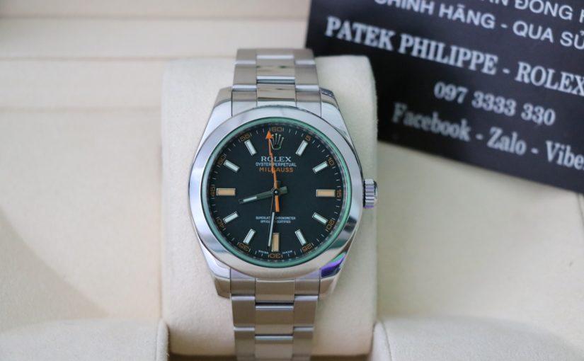 Đồng hồ rolex Milgauss 6 số 116400 – Inox – Size 40mm