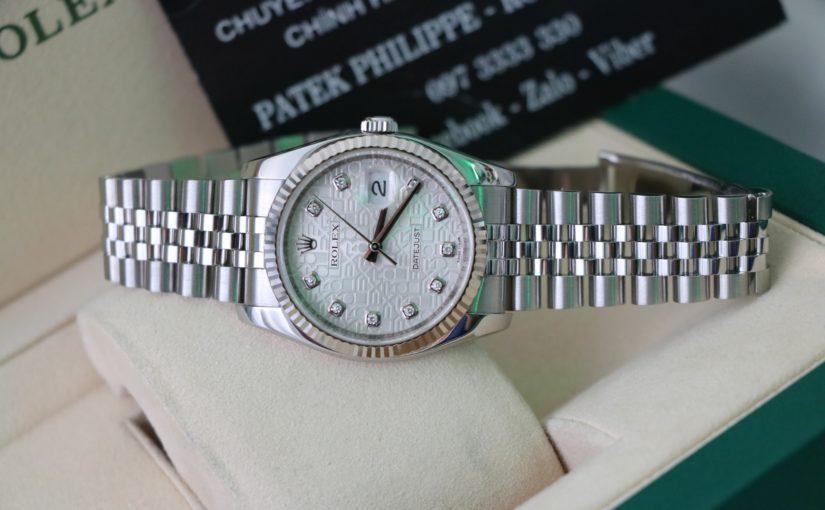Đồng hồ rolex date just 6 số 116234 – Inox – Mặt vi tính hạt xoàn – size 36